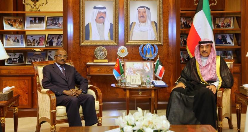 Kuwait Foreign Minister Sheikh Sabah Sheikh Sabah Al-Khaled meets Eritrean counterpart in Kuwait City.
