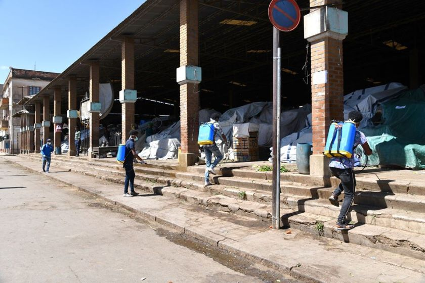 Coronavirus Sanitizers Spray Conducted in Asmara