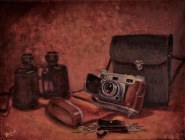 "Still life with Old Camera (12""x16"")"