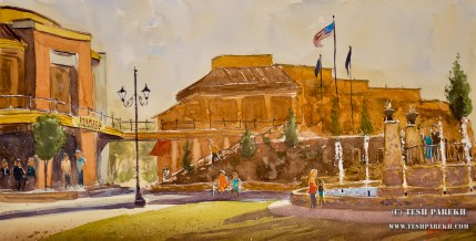 waverly-place-plein-air-painting-wag-cary-nc-watercolor