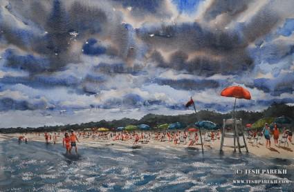 myrtle-beach-watercolor-painting-fine-art-gallery
