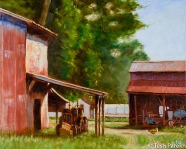 Free Range. Oil painting on linen. 16x20.
