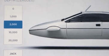 Tesla James Bond Lotus submarine