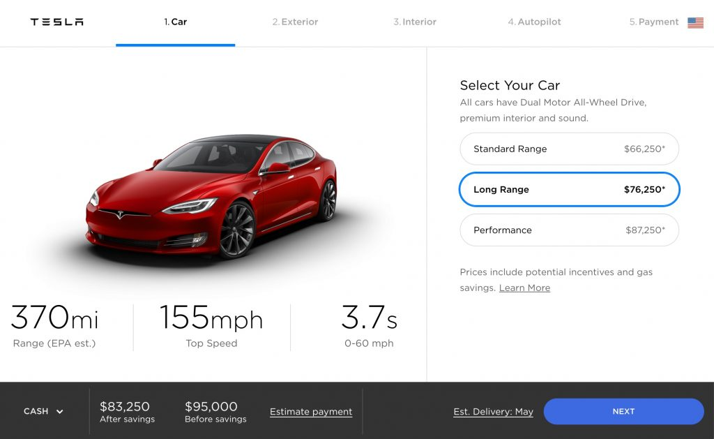 Tesla Model S 370mi Range Configurator Apr232018 Teslarati