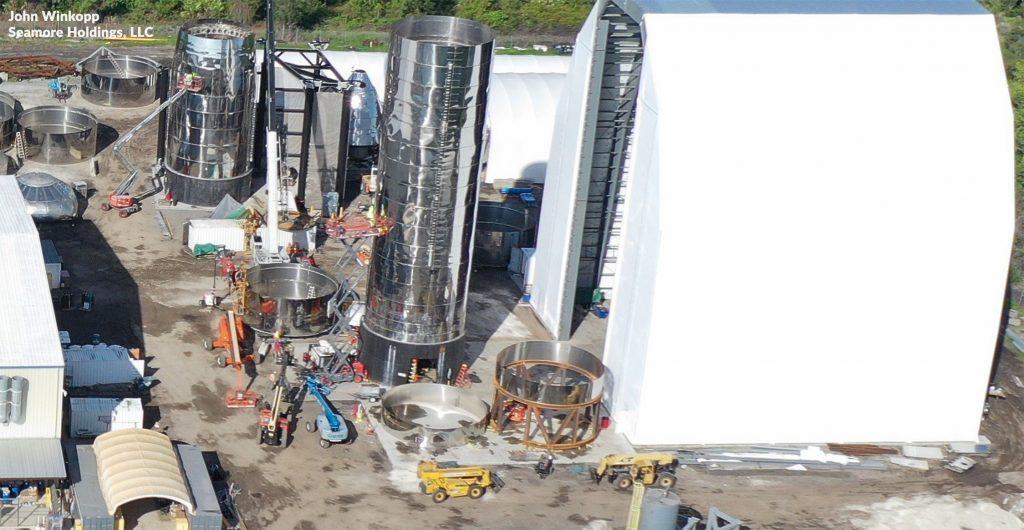 Spacex S Fourth Starship Prototype Has Begun To Take Shape