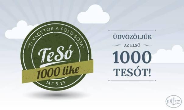 1000. lájkoló facebookon
