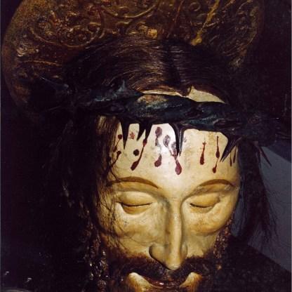 Volto del crocifisso del venerdì santo