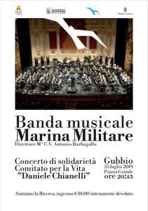 La banda musicale della Marina Militare a Gubbio per evento benefico-locandina