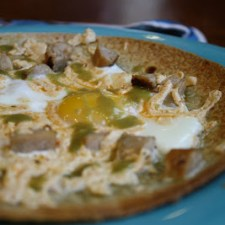 Baked Egg Breakfast Pizzas
