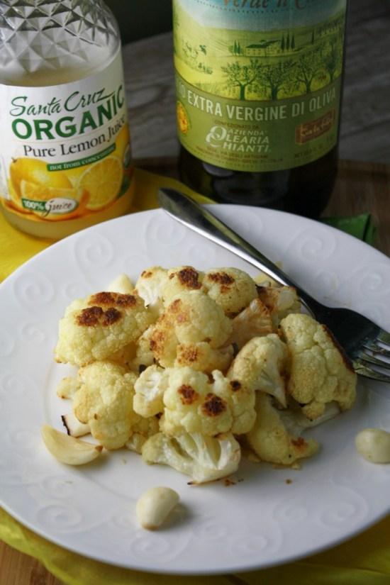 Quick Roasted Cauliflower w/ Lemon & Garlic