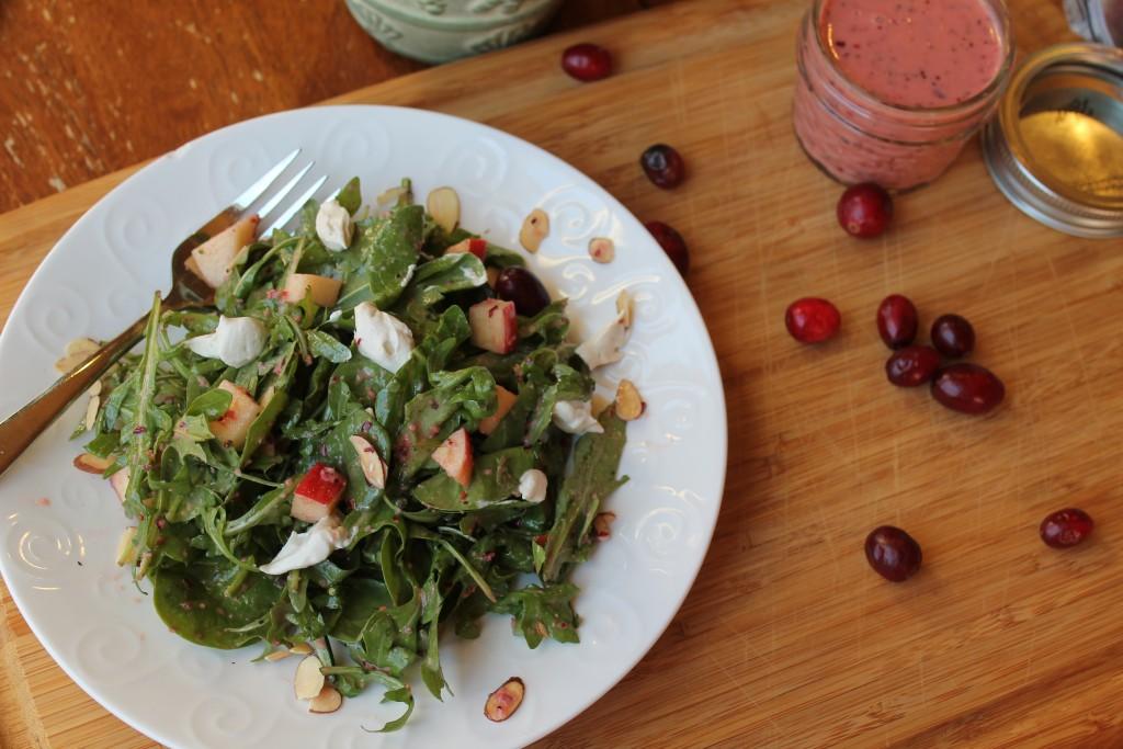 Hearty Green Salad w/ a Cranbeery Vinaigrette
