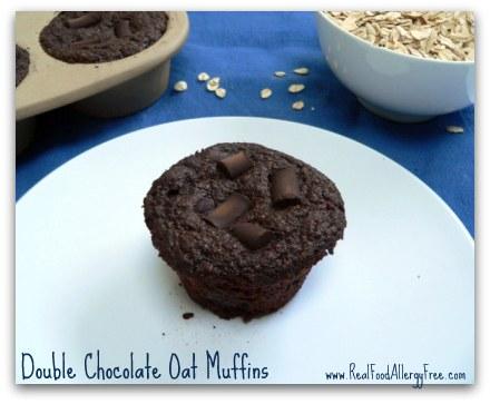 Double-Chocolate-Muffins  - gluten free vegan