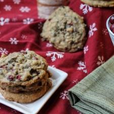 Gluten Free Fresh Cranberry, Oatmeal, & Chocolate Cookies