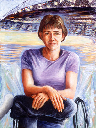 Portrait painting by Tess Barnes