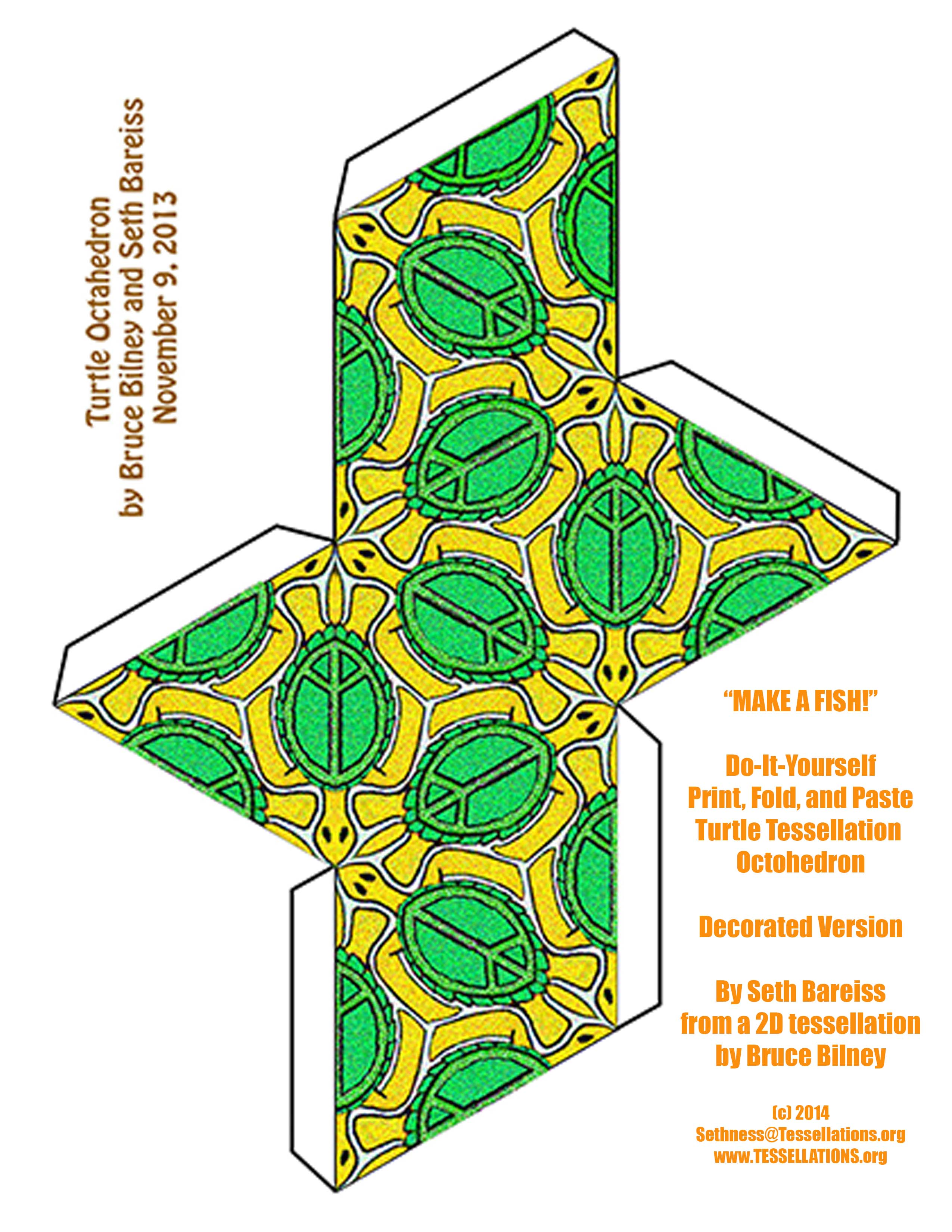 Tessellation In Real Materials 32 Diy Papercraft Turtle