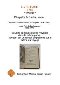 LIVRES RARES chapelle et bachaumont