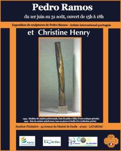 "Exposition de Sculptures ""Pedro Ramos"" & ""Christine Henry"""
