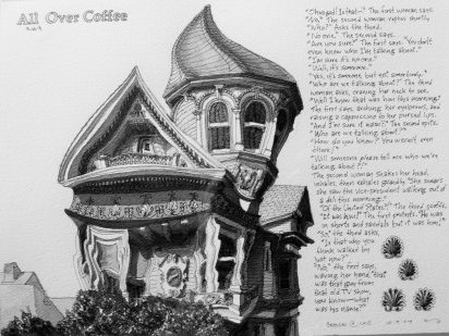 All over coffee -Architecture victorienne de San Francisco