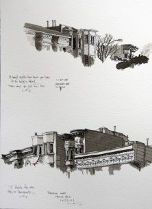 Détail architectural de maison victorienne à San Francisco (5)