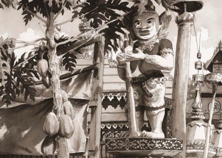 Thaïlande-Wat Klang Statue left-Pai