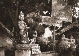 Thaïlande-Wat Klang Statue right-Pai