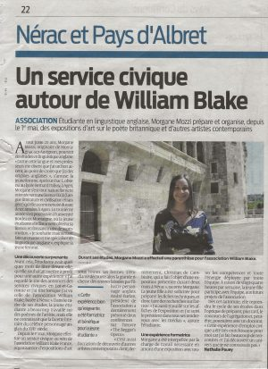 Un service civique autour de William Blake