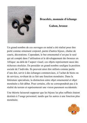 Bracelets en bronze-monnaie d'échange