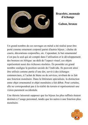 Bracelets, monnaie d'échange en bronze-Gabon
