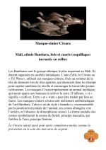 Masque-cimier Ciwara, ethnie Bambara