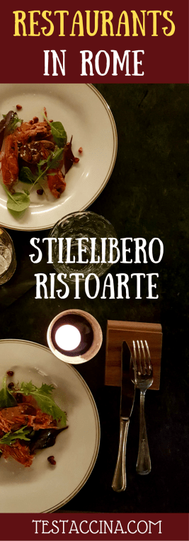 StileLibero RistoArt is a restaurant in Rome which combines food, fashion and cocktails in Rome's Prati district, near the Vatican.
