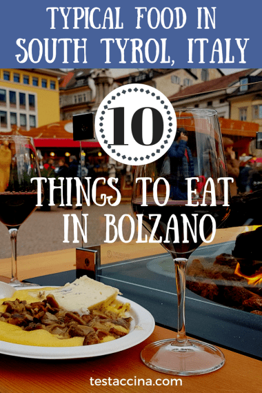 Typical food in South Tyrol /Alto Adige, or the best things to eat in Bolzano and Merano. South Tyrol food includes polenta, canederli, krapfen and more.
