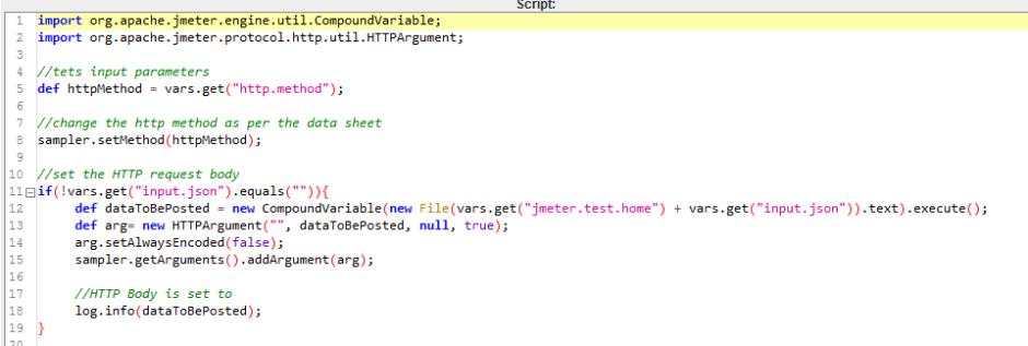 Data-Driven REST API using JMeter