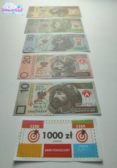 banknoty z gry Żucie pod zastaw