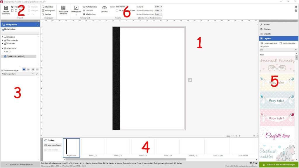 Fotobuch gestalten Software