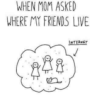 internetowi przyjaciele