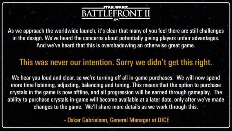 battlefront 2 mikropłatności