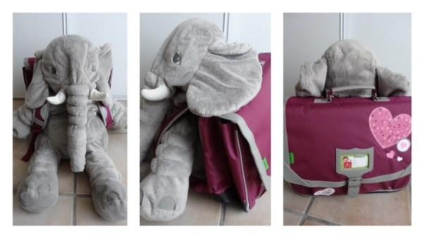 Cartable tanns elephant