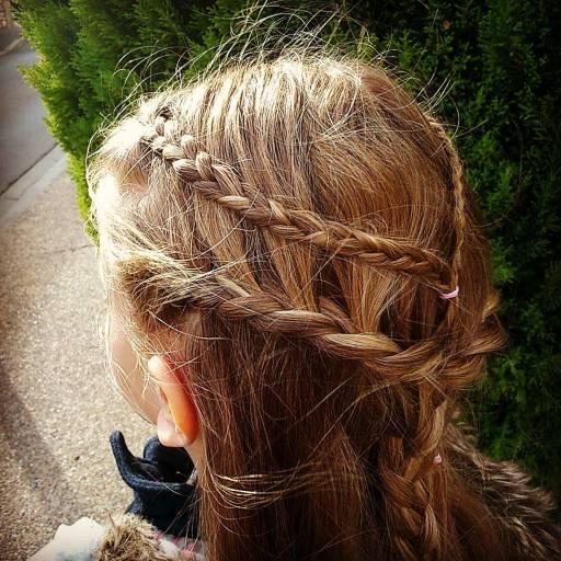 Coiffure du jour, inspiration #gameofthrones #daenerys #tresse #cestmoiquilaifait