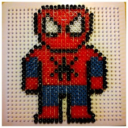 Spiderman perles à repasser ikea