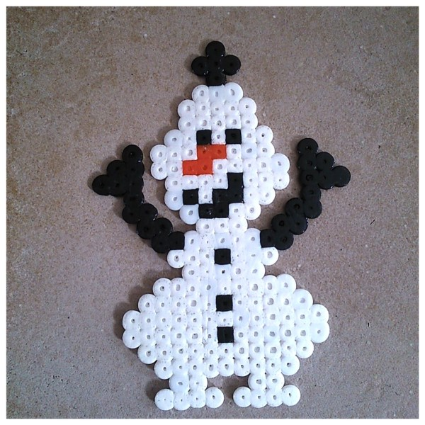 Olaf Reine des neiges Frozen perles à repasser