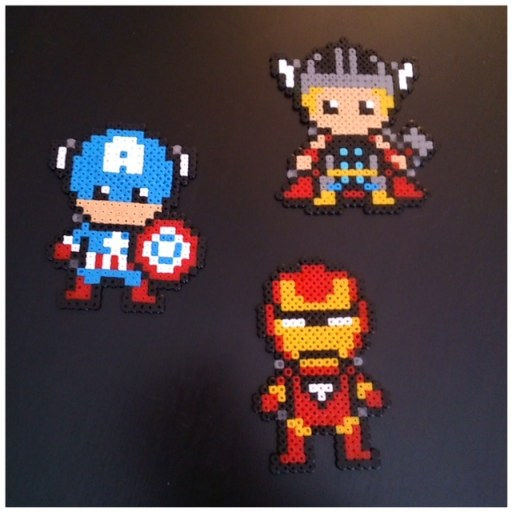 Super héros Marvel perles à repasser