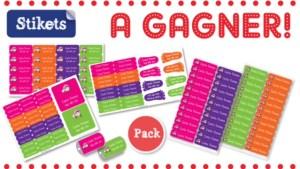 concours stickets étiquettes personnalisées