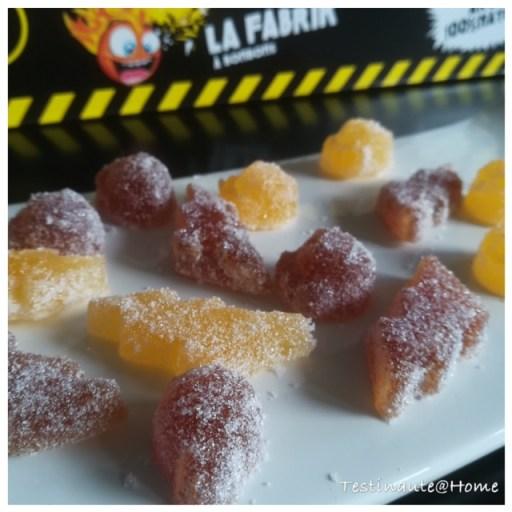 notre production de bonbons têtes brûlées