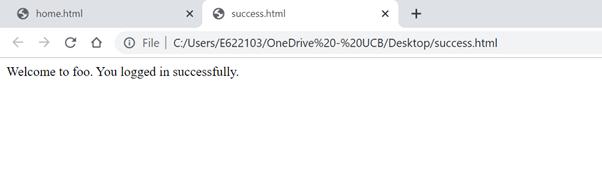 HTML Webpage for  sample Test case