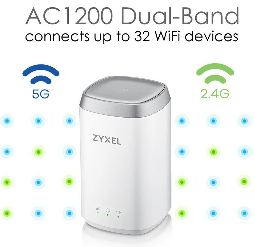 Zyxel AC1200 Routeur 4G LTE Dual Band - multi connections