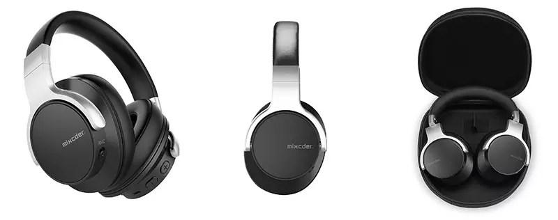Mixcder E7 Auriculares Bluetooth con cancelación activa de ruido Auriculares estéreo de audio Ear Circum ANC