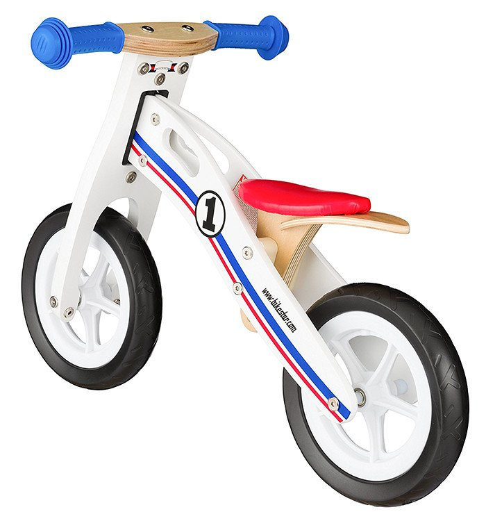 Bikestar Wooden Balance Bike para niños y niñas de 2-3 años
