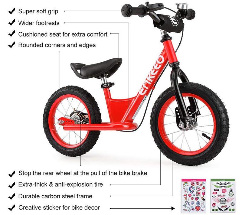 Bicicleta de equilibrio ENKEEO 14 - Pedal de bicicleta sin control