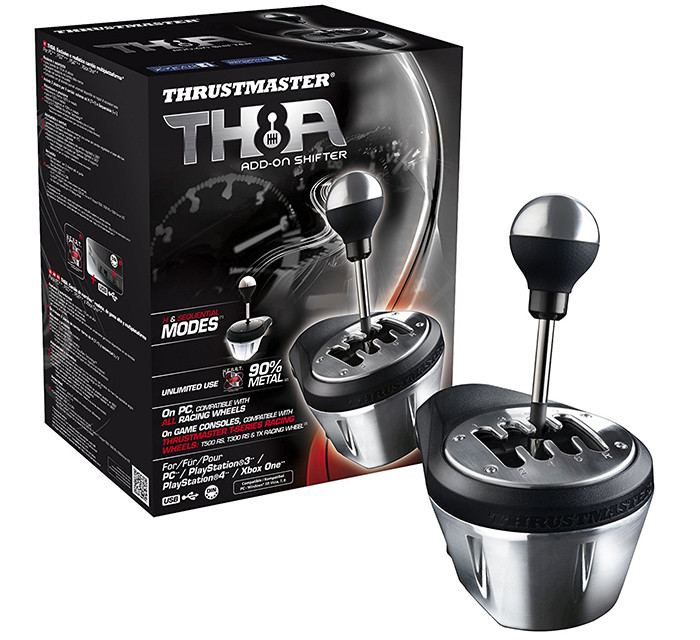 Thrustmaster - TH8A Realistic Gearbox Compatible with PC PS3 PS4 and Xbox One