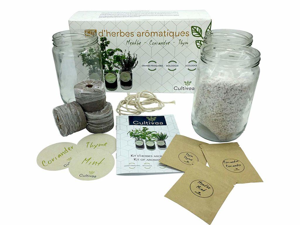 Cultivea – Kit Prêt à Pousser Complet d'Herbes Aromatiques